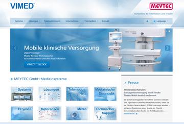 MEYTEC Medizinsysteme updates homepage www.vimed.de