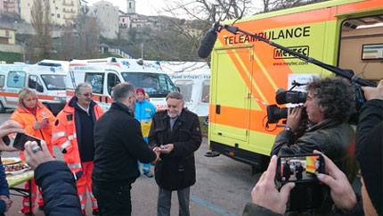 Teleambulance in the earthquake area in Umbria (Italy)